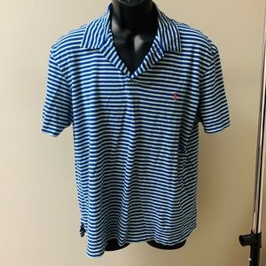 Blue & Green Striped Polo by Ralph Lauren size L